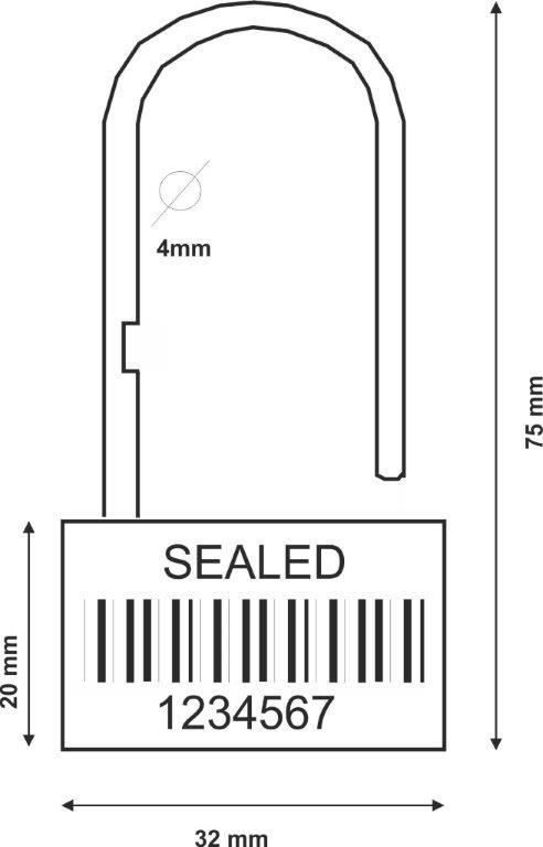 hangslot-verzegeling-padlockseal-technische-tekening
