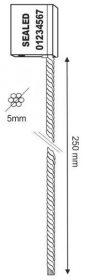 veiligheidszegels-cableseal-5x250-mm-technische-tekening