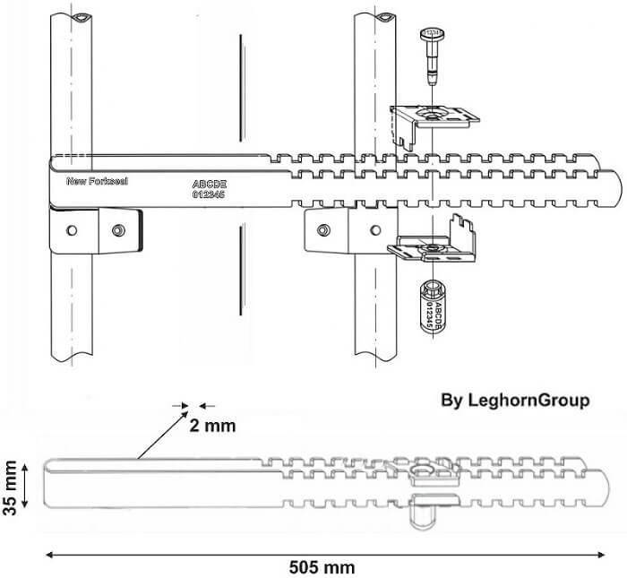 barriere verzegelingen new fork seal technische tekening