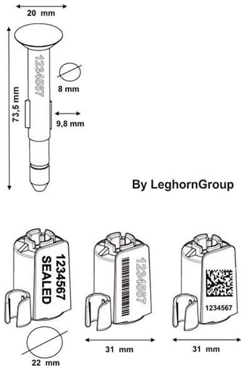 container verzegelingen neptune seal technische tekening