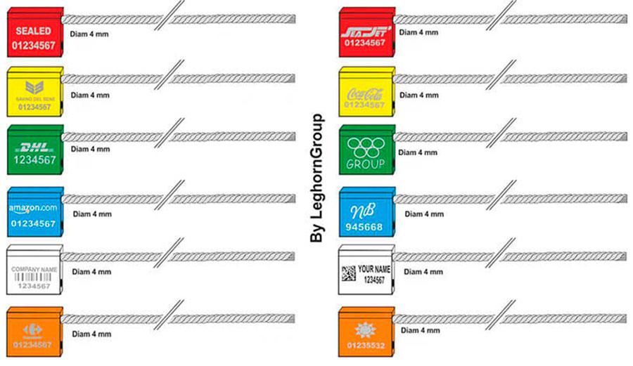 kabel verzegelingen 4x250 mm kleuren personnalisaties