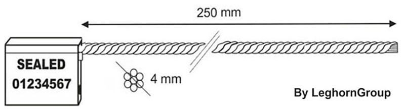 kabel verzegelingen 4x250 mm technische tekening