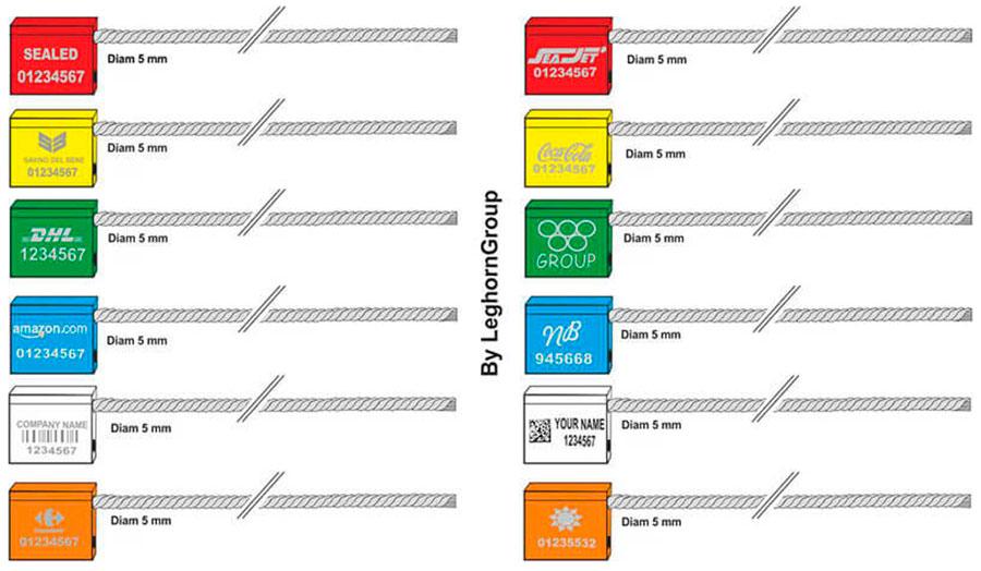 kabel verzegelingen 5x250 mm kleuren personnalisaties