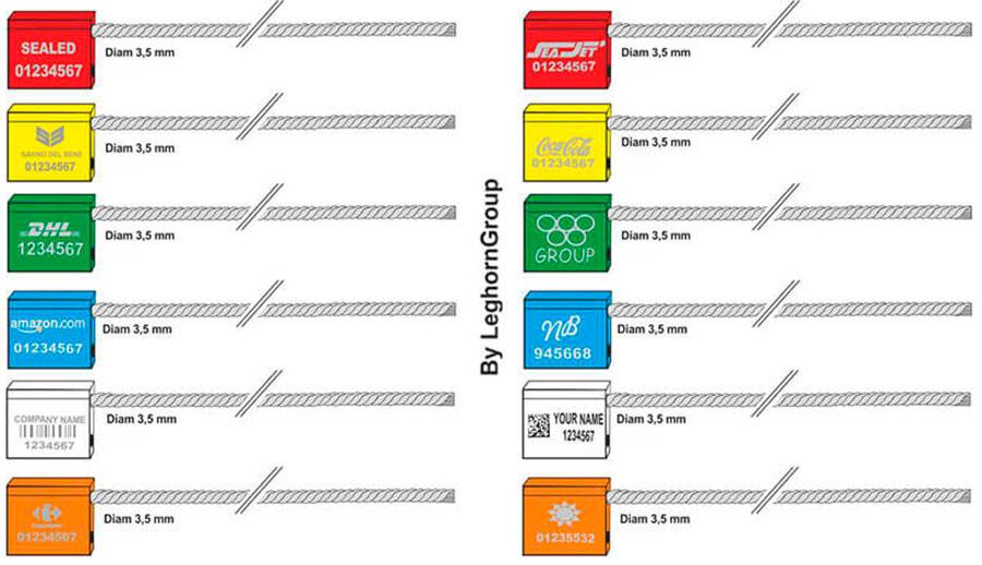 kabel zegels 3.5×250 mm kleuren personnalisaties