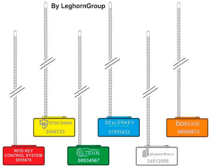 rfid sleutelhouder kabelverzegeling kleuren personnalisaties