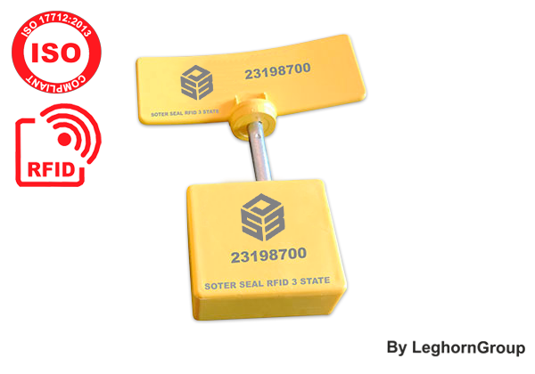 High Security Container Bolt Seal Verzegeling UHF RFID, 3-state E-Seal Type SOTER SEAL