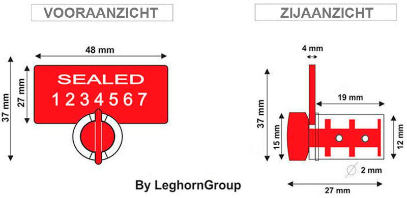 uhf rfid meterzegel twist seal technische tekening