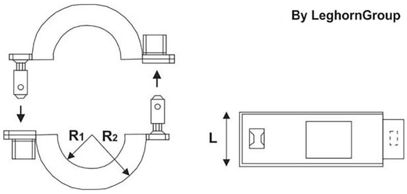 meter verzegeling rfid connection lock technische tekening